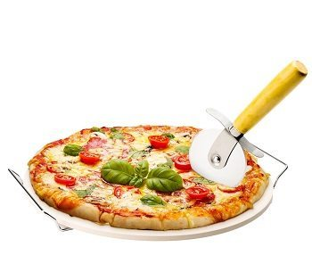 "Chef's Star 15"" Ceramic Pizza Stone and Pizza Cutter Review"