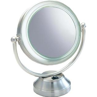 Jerdon JGL9W Tabletop Tri-Fold Two-Sided Lighted Makeup Mirror Review