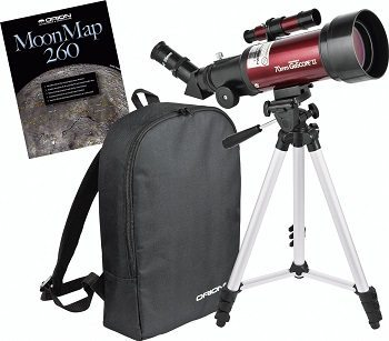 Orion 10034 GoScope II 70mm Refractor Travel Telescope Moon Kit Review