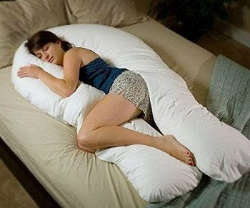 Comfort-U Total Body Pillow with white case CU9000 Review