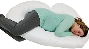 J Shaped- Premium Contoured Body Pregnancy Maternity Pillow with Zippered Cover Review