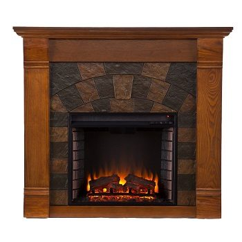 SEI Elkmont Salem Electric Fireplace, Antique Oak Review