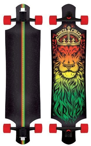 Santa Cruz Lion God Rasta Drop Thru Cruzer Freeride Longboard Review