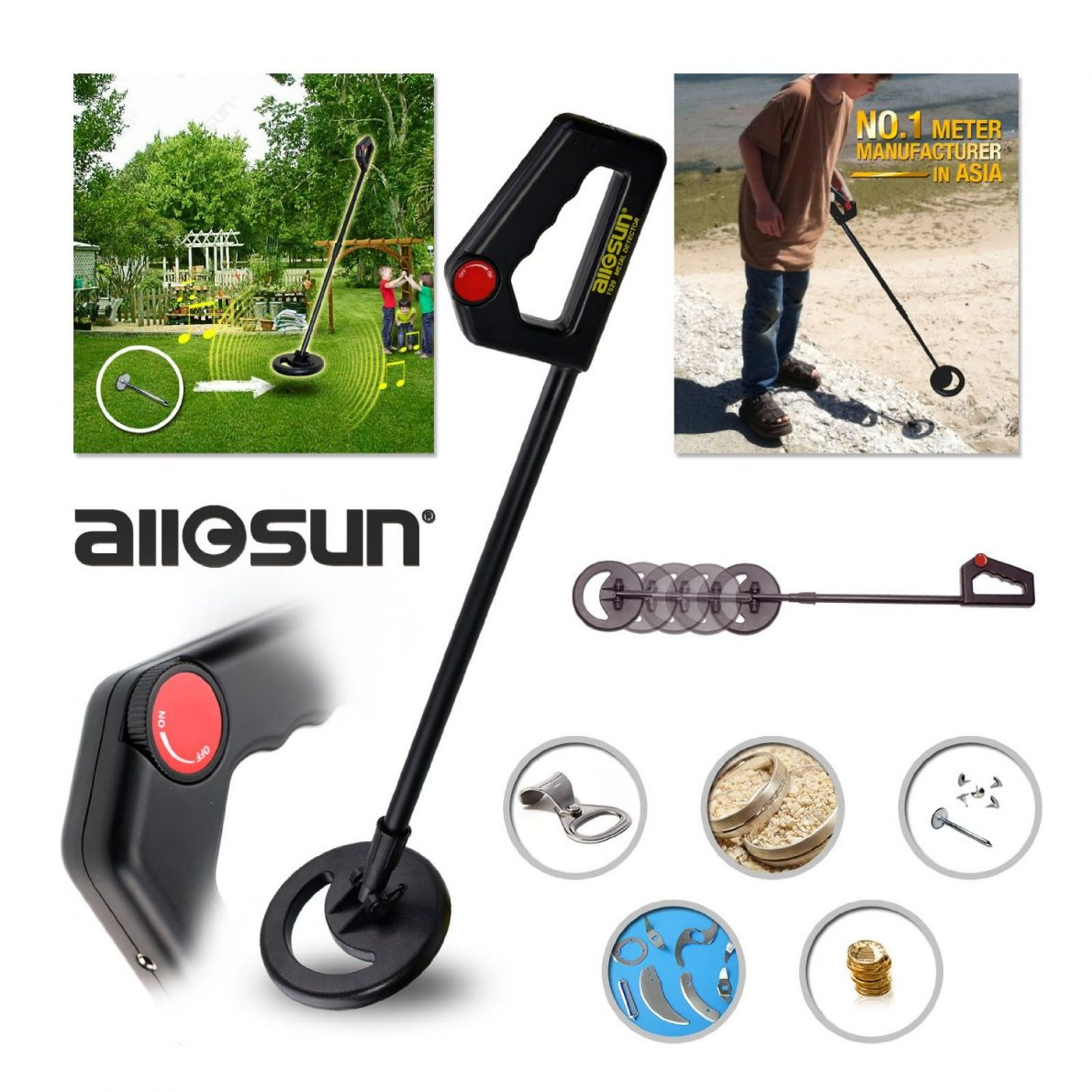 all-sun Junior Metal Detector Beach Yard Junior Ground Metal Detector Review