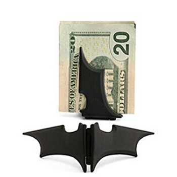 GuDeKe Unisex's Zinc Alloy Man Batman Batarang Money Clip Black Review