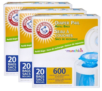 Munchkin Arm and Hammer Diaper Pail with Refill Bags Review