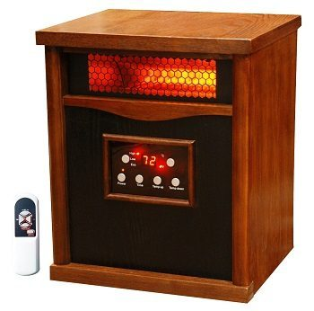 Lifesmart 6 Element Large Room Infrared Quartz Heater with Wood Cabinet and Remote Review