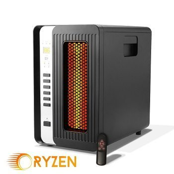 Ryzen H-5000 Pro Portable Infrared Quartz Heater with Remote 1500 Watts Review