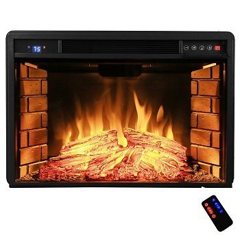 AKDY 28 inch Black Electric Firebox Fireplace Heater Insert withRemote Review