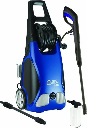 AR Blue Clean AR383 with 1,900 PSI and 1.5 GPM 14 Amp Electric Pressure Washer with Hose Reel Review
