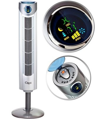 Ozeri Ultra 42 inch Wind Fan - Adjustable Oscillating Tower Fan with Noise Reduction Technology Review