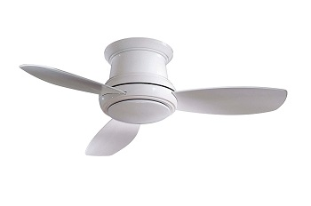 Minka-Aire F518-WH 44-inch Concept II Flush Mount Ceiling Fan Review